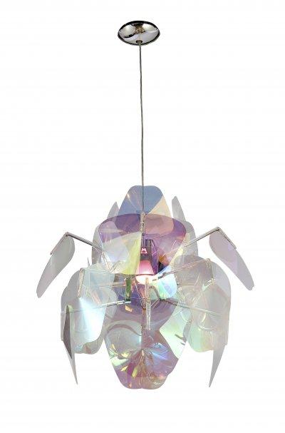 Светильник подвесной St luce SL169.103.01Подвесные<br>Касаемо коллекции модели St luce SL169.103.01 хотелось бы отметить основные моменты: Современные люстры Baleno это оригинальное дополнение современного интерьера. Основание светильника выполнено из хромированного металла. Тонкие акриловые пластины с потрясающим перламуrровым эффектом притягивают взгляд, переливаясь под световыми лучами. Люстры коллекции Baleno, сочетающие шик и причудливость, стануr ярким акцентом в современном интерьере.<br><br>Установка на натяжной потолок: Да<br>S освещ. до, м2: 5<br>Крепление: Планка<br>Тип лампы: накаливания / энергосбережения / LED-светодиодная<br>Тип цоколя: E27<br>Цвет арматуры: серебристый<br>Количество ламп: 1<br>Ширина, мм: 600<br>Диаметр, мм мм: 600<br>Длина, мм: 600<br>Высота, мм: 600<br>Поверхность арматуры: глянцевая<br>MAX мощность ламп, Вт: 100