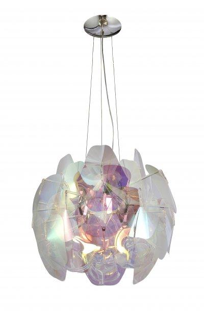 Светильник подвесной St luce SL169.103.03Подвесные<br>Касаемо коллекции модели St luce SL169.103.03 хотелось бы отметить основные моменты: Современные люстры Baleno это оригинальное дополнение современного интерьера. Основание светильника выполнено из хромированного металла. Тонкие акриловые пластины с потрясающим перламуrровым эффектом притягивают взгляд, переливаясь под световыми лучами. Люстры коллекции Baleno, сочетающие шик и причудливость, стануr ярким акцентом в современном интерьере.<br><br>Установка на натяжной потолок: Да<br>S освещ. до, м2: 15<br>Крепление: Планка<br>Тип лампы: накаливания / энергосбережения / LED-светодиодная<br>Тип цоколя: E27<br>Количество ламп: 3<br>Ширина, мм: 800<br>MAX мощность ламп, Вт: 100<br>Диаметр, мм мм: 800<br>Длина, мм: 800<br>Высота, мм: 600<br>Поверхность арматуры: глянцевая<br>Цвет арматуры: серебристый