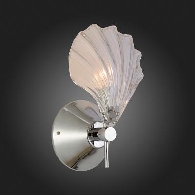 Светильник настенный бра St luce SL172.101.01Флористика<br>Если Вы настроены купить светильник модели SL17210101, то обратите внимание: Нет ничего более совершенного, чем то, что дает нам природа. Стеклянные прозрачные плафоны уникальной формы визуально напоминают морские ракушки. И кажется, что вот-вот их створки раскроются, и оттуда покажется маленькая перламутровая жемчужинка. В светильниках ее образ визуализируется при помощи маленькой лампочки, помещенной внутрь плафона. Роскошно и дорого выглядит люстра из коллекции Ariel под потолком. Она будет уместна в любом современном интерьере, наполняя его светом, теплом и умиротворенностью.<br><br>Тип лампы: Накаливания / энергосбережения / светодиодная<br>Тип цоколя: E14<br>Количество ламп: 1<br>Ширина, мм: 200<br>MAX мощность ламп, Вт: 40<br>Высота, мм: 355