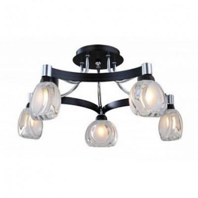 Люстра St luce SL181.702.05Потолочные<br><br><br>S освещ. до, м2: 2<br>Тип лампы: галогенная / LED-светодиодная<br>Тип цоколя: G9<br>Цвет арматуры: хром<br>Количество ламп: 1<br>Ширина, мм: 460<br>Длина, мм: 460<br>Высота, мм: 240<br>Оттенок (цвет): под дерево<br>MAX мощность ламп, Вт: 40