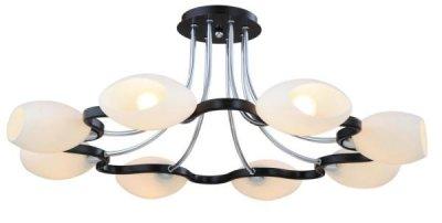Светильник потолочный St luce SL196.702.08Архив<br><br><br>S освещ. до, м2: 32<br>Тип лампы: накаливания / энергосбережения / LED-светодиодная<br>Тип цоколя: E14<br>Количество ламп: 8<br>Ширина, мм: 785<br>MAX мощность ламп, Вт: 60<br>Длина, мм: 785<br>Высота, мм: 315<br>Оттенок (цвет): под дерево<br>Цвет арматуры: хром