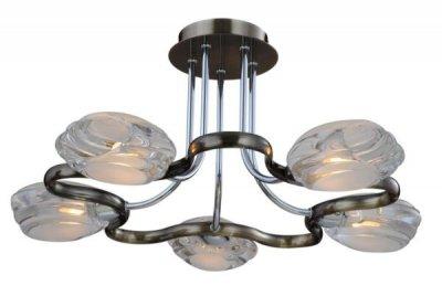 Светильник потолочный St luce SL197.132.05Снято с производства<br><br><br>S освещ. до, м2: 13<br>Тип товара: светильник потолочный<br>Тип лампы: галогенная / LED-светодиодная<br>Тип цоколя: G9<br>Количество ламп: 5<br>Ширина, мм: 430<br>MAX мощность ламп, Вт: 40<br>Длина, мм: 430<br>Высота, мм: 220<br>Оттенок (цвет): Хром-Бронза<br>Цвет арматуры: хром