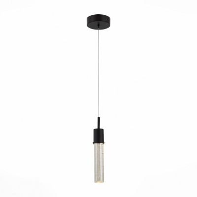 Светильник подвесной St luce SL215.423.01Одиночные<br>Роскошная люстра коллекции Fase выполнена в современной концептуальной манере. Многочисленные подвесы, ниспадающие с круглого металлического основания цвета анодированной бронзы, производят яркое впечатление. Плафоны выполнены из рифленого или гладкого цилиндрического стекла , прозрачные  или цвета шампань . Источник света-лампы LED. Эффектный облик люстр Fase совместим с разными интерьерными решениями, от авангарда до футуризм. Эти светильники могут придать окружающей обстановке оригинальную эстетику, присущую интерьерным направлениям начала XX века и современности,  они актуальны для самых разнообразных жилых и коммерческих помещений, общественных и административных пространств.<br><br>Цветовая t, К: 4000<br>Тип лампы: LED - светодиодная<br>Тип цоколя: LED<br>Цвет арматуры: черный<br>Диаметр, мм мм: 120<br>Высота, мм: 1200<br>MAX мощность ламп, Вт: 3