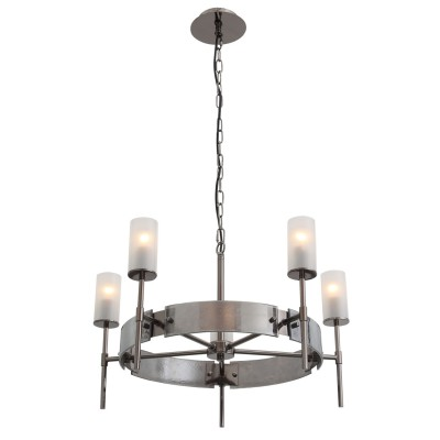 Люстра подвесная St luce SL219.142.05Подвесные<br><br><br>Установка на натяжной потолок: Да<br>S освещ. до, м2: 10<br>Крепление: Планка<br>Тип лампы: накаливания / энергосбережения / LED-светодиодная<br>Тип цоколя: E14<br>Количество ламп: 5<br>MAX мощность ламп, Вт: 40<br>Диаметр, мм мм: 600<br>Высота, мм: 400 - 1850<br>Оттенок (цвет): черный<br>Цвет арматуры: черный