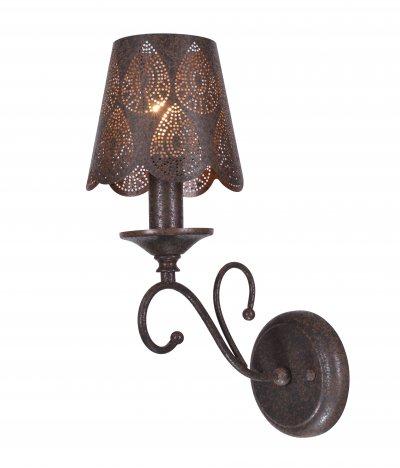 Светильник настенный бра St luce SL247.301.01Восточный стиль<br><br><br>Крепление: на планку<br>Тип товара: Светильник настенный бра<br>Скидка, %: 26<br>Тип лампы: накаливания / энергосбережения / LED-светодиодная<br>Тип цоколя: E14<br>Количество ламп: 1<br>Ширина, мм: 140<br>MAX мощность ламп, Вт: 60<br>Расстояние от стены, мм: 240<br>Высота, мм: 370<br>Поверхность арматуры: матовая<br>Цвет арматуры: коричневый