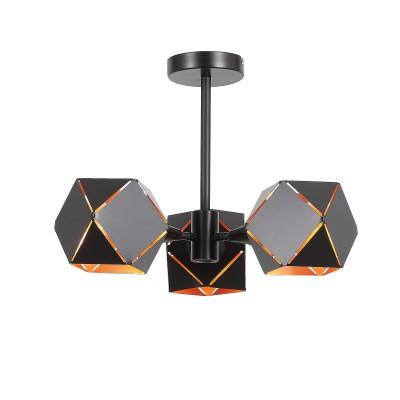 Светильник SL258.402.03 St luceлюстры хай тек потолочные<br><br><br>Тип лампы: Накаливания / энергосбережения / светодиодная<br>Тип цоколя: E14<br>Цвет арматуры: черный<br>Количество ламп: 3<br>Диаметр, мм мм: 350<br>Высота, мм: 315<br>Поверхность арматуры: матовая<br>Оттенок (цвет): черный<br>MAX мощность ламп, Вт: 40<br>Общая мощность, Вт: 120