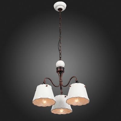 Люстра подвесная St luce SL259.503.03Подвесные<br>Если Вы настроены купить светильник модели SL25950303, то обратите внимание: Строгая и элегантная классика, торжество простых форм – все это в коллекции светильников Famiglia. Строго и, в то же время ,уютно выглядят эти люстры в интерьере загородного дома или городской квартиры , оформленных в стиле гранж или прованс. Главной «изюминкой» коллекции стала игра на контрасте мягкого пастельного тона абажура и насыщенного коричневого, выбранного для всех металлических поверхностей. В светильниках используются лампы накаливания, которые помогают еще больше наполнить атмосферу теплом и комфортом.<br><br>Установка на натяжной потолок: Да<br>S освещ. до, м2: 6<br>Тип лампы: Накаливания / энергосбережения / светодиодная<br>Тип цоколя: E14<br>Количество ламп: 3<br>MAX мощность ламп, Вт: 40<br>Диаметр, мм мм: 390<br>Высота, мм: 1000