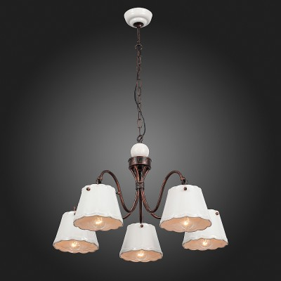 Люстра подвесная St luce SL259.503.05Подвесные<br>Если Вы настроены купить светильник модели SL25950305, то обратите внимание: Строгая и элегантная классика, торжество простых форм – все это в коллекции светильников Famiglia. Строго и, в то же время ,уютно выглядят эти люстры в интерьере загородного дома или городской квартиры , оформленных в стиле гранж или прованс. Главной «изюминкой» коллекции стала игра на контрасте мягкого пастельного тона абажура и насыщенного коричневого, выбранного для всех металлических поверхностей. В светильниках используются лампы накаливания, которые помогают еще больше наполнить атмосферу теплом и комфортом.<br><br>Установка на натяжной потолок: Да<br>S освещ. до, м2: 10<br>Тип лампы: Накаливания / энергосбережения / светодиодная<br>Тип цоколя: E14<br>Количество ламп: 5<br>MAX мощность ламп, Вт: 40<br>Диаметр, мм мм: 600<br>Высота, мм: 1000