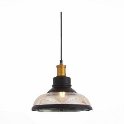 Подвес SL263.403.01 St luce CORATIОжидается<br><br><br>S освещ. до, м2: 3<br>Крепление: Планка<br>Тип лампы: Накаливания<br>Тип цоколя: E27<br>Цвет арматуры: Черный, бронзовый<br>Количество ламп: 1<br>Диаметр, мм мм: 275<br>Высота полная, мм: 1100<br>Поверхность арматуры: Матовая<br>MAX мощность ламп, Вт: 60<br>Общая мощность, Вт: 60