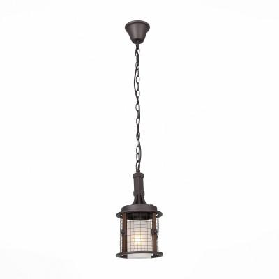 Подвес St luce SL266.303.01одиночные подвесные светильники<br>Модели коллекции  Ivanhо- настоящий шедевр, способный украсить интерьеры, оформленный в винтажном , классическом , кантри стиле и всевозможные эклектичные композиции. В этих светильниках прекрасно сочетается романтичность ,шарм и величественность. Она способна преобразить интерьер, добавив в него неподдельной роскоши и  благородства. Все элементы основани, включая сетку абажура, выполнены из металла и окрашены в оттенки кофейного цвета,  а плафоны - из белого матового стекла. Вся композиция люстры исполнена в стилистике лёгкой ковки, поэтому смотрится особенно презентабельно.<br><br>Тип лампы: Накаливания / энергосбережения / светодиодная<br>Тип цоколя: E27<br>Цвет арматуры: коричневый<br>Диаметр, мм мм: 190<br>Высота, мм: 350 - 1500<br>MAX мощность ламп, Вт: 60