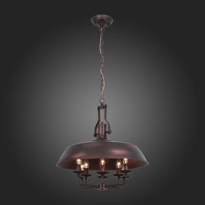 Люстра подвесная St luce SL269.403.08 RaritaПодвесные<br>Модели коллекции Rarita станут выразительным элементом концепции интерьера, оформленного в стиле лофт, кантри или эклектика. Облик сдержанно-строгих светильников свободен от избытка декора. Металлическое основание окрашено в темно-коричневый свет.<br><br>S освещ. до, м2: 16<br>Крепление: планка<br>Тип лампы: накаливания / энергосбережения / LED-светодиодная<br>Тип цоколя: E14<br>Цвет арматуры: коричневый<br>Количество ламп: 8<br>Диаметр, мм мм: 600<br>Высота, мм: 700 - 1750<br>Поверхность арматуры: матовая<br>MAX мощность ламп, Вт: 40
