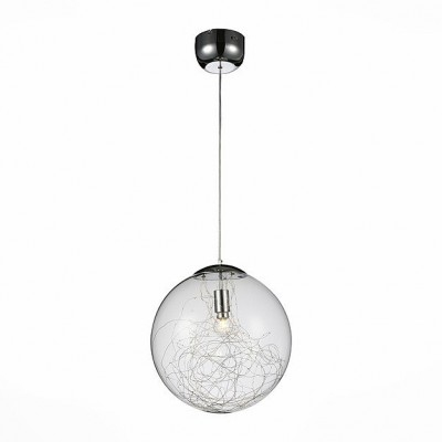 Светильник St Luce SL274.113.01Одиночные<br><br><br>Тип товара: Подвесной светильник<br>Тип лампы: Накаливания / энергосбережения / светодиодная<br>Тип цоколя: E14<br>Количество ламп: 1<br>Ширина, мм: 400<br>MAX мощность ламп, Вт: 40<br>Высота, мм: 400 - 1460