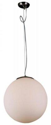 Светильник подвесной St luce SL290.503.01Одиночные<br>Касаемо коллекции модели St luce SL290.503.01 хотелось бы отметить основные моменты: Торшер и подвесы серии Piegare просты и изящны. Они могут стать акцентом в интерьере стиля модерн, хай-тек, фьюжн. Металлическое основание торшера имеет цвет «черный хром». Основание подвесов выполнено из металла с покрытием цвета матового никеля. Плафоны из молочнобелого матового стекла, мягко рассеивающего свет.<br><br>S освещ. до, м2: 2<br>Крепление: планка<br>Тип лампы: накаливания / энергосбережения / LED-светодиодная<br>Тип цоколя: E27<br>Количество ламп: 1<br>Ширина, мм: 300<br>MAX мощность ламп, Вт: 40<br>Диаметр, мм мм: 300<br>Длина, мм: 300<br>Высота, мм: 290<br>Поверхность арматуры: матовая<br>Оттенок (цвет): никель<br>Цвет арматуры: серый