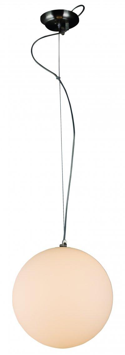 Светильник подвесной St luce SL290.503.01одиночные подвесные светильники<br>Касаемо коллекции модели St luce SL290.503.01 хотелось бы отметить основные моменты: Торшер и подвесы серии Piegare просты и изящны. Они могут стать акцентом в интерьере стиля модерн, хай-тек, фьюжн. Металлическое основание торшера имеет цвет «черный хром». Основание подвесов выполнено из металла с покрытием цвета матового никеля. Плафоны из молочнобелого матового стекла, мягко рассеивающего свет.<br><br>S освещ. до, м2: 2<br>Крепление: планка<br>Тип лампы: накаливания / энергосбережения / LED-светодиодная<br>Тип цоколя: E27<br>Цвет арматуры: серый<br>Количество ламп: 1<br>Ширина, мм: 300<br>Диаметр, мм мм: 300<br>Длина, мм: 300<br>Высота, мм: 290<br>Поверхность арматуры: матовая<br>Оттенок (цвет): никель<br>MAX мощность ламп, Вт: 40
