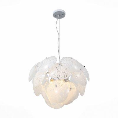 Светильник St Luce SL301.503.05Подвесные<br><br><br>Тип товара: Люстра подвесная<br>Тип лампы: Накаливания / энергосбережения / светодиодная<br>Тип цоколя: E27<br>Количество ламп: 5<br>MAX мощность ламп, Вт: 60<br>Диаметр, мм мм: 550<br>Высота, мм: 350 - 1200