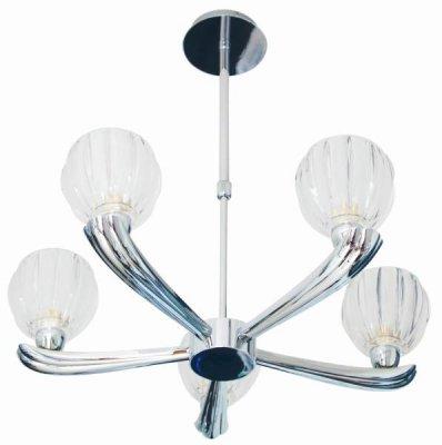 Светильник потолочный St luce SL318.102.05Потолочные<br><br><br>Установка на натяжной потолок: Да<br>S освещ. до, м2: 13<br>Крепление: Планка<br>Тип товара: светильник потолочный<br>Тип лампы: галогенная / LED-светодиодная<br>Тип цоколя: G9<br>Количество ламп: 5<br>Ширина, мм: 520<br>MAX мощность ламп, Вт: 40<br>Длина, мм: 520<br>Высота, мм: 280 - 530<br>Оттенок (цвет): серебристый<br>Цвет арматуры: серебристый