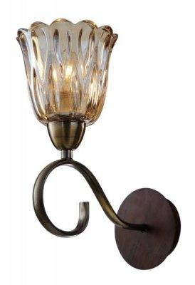 Светильник St luce SL324.301.01Модерн<br><br><br>S освещ. до, м2: 4<br>Тип товара: Светильник настенный бра<br>Тип лампы: накаливания / энергосбережения / LED-светодиодная<br>Тип цоколя: E14<br>Количество ламп: 1<br>Ширина, мм: 130<br>MAX мощность ламп, Вт: 60<br>Длина, мм: 205<br>Высота, мм: 285<br>Оттенок (цвет): под дерево<br>Цвет арматуры: Antique Brass+Walnut Бронза+Орех