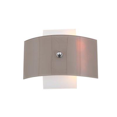 SL338.051.02 Бра ST Luce ХромБелый, Коричневый E27 2*60WОжидается<br>Если Вы настроены купить светильник модели SL33805102, то обратите внимание: Светильники коллекции Ovvio - идеальное решение для стильного современного интерьера. Они выполнены в гармоничной цветовой гамме – хромированное металлическое основание и плафоны из стекла белого цвета и серого с оттенком коричневого . Источники света обеспечивают мягкое распределение светового потока. Владелец светильника может проявить фантазию и по своему усмотрению менять расположение и направление деталей, трансформировать составные части светильника.<br>