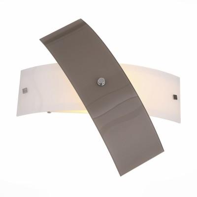 Светильник St luce SL338.501.01Современные<br>Если Вы настроены купить светильник модели SL33850101, то обратите внимание: Светильники коллекции Ovvio - идеальное решение для стильного современного интерьера. Они выполнены в гармоничной цветовой гамме – хромированное металлическое основание и плафоны из стекла белого цвета и серого с оттенком коричневого . Источники света обеспечивают мягкое распределение светового потока. Владелец светильника может проявить фантазию и по своему усмотрению менять расположение и направление деталей, трансформировать составные части светильника.<br><br>Тип лампы: Накаливания / энергосбережения / светодиодная<br>Тип цоколя: E27<br>Количество ламп: 1<br>Ширина, мм: 400<br>MAX мощность ламп, Вт: 60<br>Расстояние от стены, мм: 130<br>Высота, мм: 110
