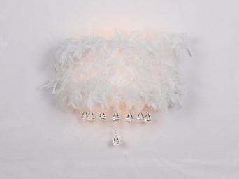Светильник St luce SL349.502.02Хай-тек<br>Касаемо коллекции модели St luce SL349.502.02 хотелось бы отметить основные моменты: Люстры серии Capriccio никого не оставят равнодушным. Трудно удержаться от желания прикоснуться к нежному натуральному пуху, который покрывает абажур светильника. Легкая и романтичная в белом исполнении или яркая, игривая в розовом эта люстра станет изысканным акцентом в интерьере комнаты, оформленной в стиле модерн, арт-деко, эклектика. Основание люстры-это металл с покрытием хром. Хрустальные подвески каплевидной формы гармонично завершают причудливый образ люстры.<br><br>S освещ. до, м2: 5<br>Крепление: планка<br>Тип лампы: накаливания / энергосбережения / LED-светодиодная<br>Тип цоколя: E27<br>Количество ламп: 2<br>Ширина, мм: 300<br>MAX мощность ламп, Вт: 40<br>Длина, мм: 190<br>Расстояние от стены, мм: 190<br>Высота, мм: 220<br>Поверхность арматуры: глянцевая<br>Оттенок (цвет): белый<br>Цвет арматуры: белый