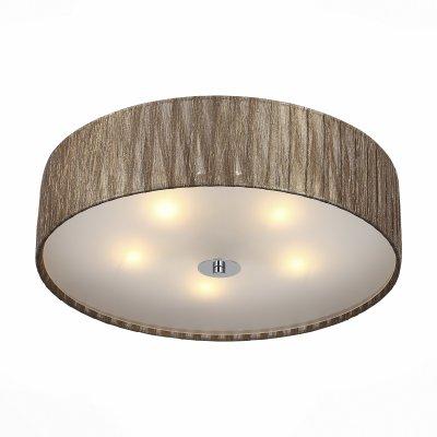 Светильник St Luce SL357.702.05Потолочные<br>Если Вы настроены купить светильник модели SL35770205, то обратите внимание: Светильники серии Rondella отличаются простой элегантностью и функциональностью форм и качество материала успешно сочетаются в этих изделиях. Абажуры люстр выполнены из органзы в трех вариантах цвета. Лампы снизу закрыты белым матовым стеклом, мягко рассеивающим свет.<br><br>Установка на натяжной потолок: Ограничено<br>S освещ. до, м2: 10<br>Тип лампы: Накаливания / энергосбережения / светодиодная<br>Тип цоколя: E27<br>Количество ламп: 5<br>MAX мощность ламп, Вт: 40<br>Диаметр, мм мм: 500<br>Высота, мм: 160
