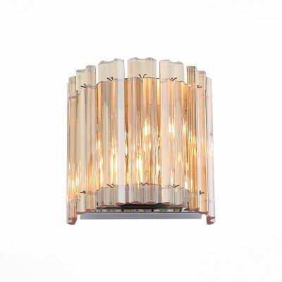 Светильник бра SL400.101.02 St luce VERSITAОжидается<br><br><br>S освещ. до, м2: 4<br>Крепление: Планка<br>Тип лампы: Галогенная<br>Тип цоколя: G9<br>Цвет арматуры: серебристый хром<br>Количество ламп: 2<br>Ширина, мм: 155<br>Высота, мм: 160<br>Поверхность арматуры: Глянцевая<br>MAX мощность ламп, Вт: 40<br>Общая мощность, Вт: 80