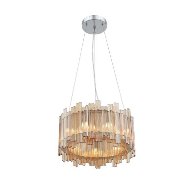 Люстра подвесная SL400.103.09 St luce VERSITAсовременные подвесные люстры модерн<br><br><br>S освещ. до, м2: 18<br>Крепление: Планка<br>Тип лампы: галогенная/LED - светодиодная<br>Тип цоколя: G9<br>Цвет арматуры: серебристый<br>Количество ламп: 9<br>Диаметр, мм мм: 400<br>Высота полная, мм: 1100<br>Высота, мм: 270<br>Поверхность арматуры: Глянцевая<br>Оттенок (цвет): серебристый<br>MAX мощность ламп, Вт: 40<br>Общая мощность, Вт: 360