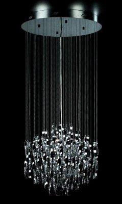 Светильник подвесной St luce SL450.103.18Каскадные<br>Касаемо коллекции модели St luce SL450.103.18 хотелось бы отметить основные моменты: Струящиеся стеклянные и металлические спирали люстр серии Arric сразу делают эти светильники ярким акцентом интерьера в стиле модерн или других современных стилях. Изделия представлены в трёх вариантах: белое и красное стекло, а также металлический хром. Арматура светильников выполнена из металла с покрытием хром.<br><br>Установка на натяжной потолок: Да<br>S освещ. до, м2: 24<br>Крепление: планка<br>Тип товара: Люстра подвесная<br>Тип лампы: галогенная / LED-светодиодная<br>Тип цоколя: G4<br>Количество ламп: 18<br>Ширина, мм: 680<br>MAX мощность ламп, Вт: 20<br>Диаметр, мм мм: 680<br>Длина, мм: 680<br>Высота, мм: 1500<br>Поверхность арматуры: глянцевая<br>Оттенок (цвет): серебристый<br>Цвет арматуры: серебристый