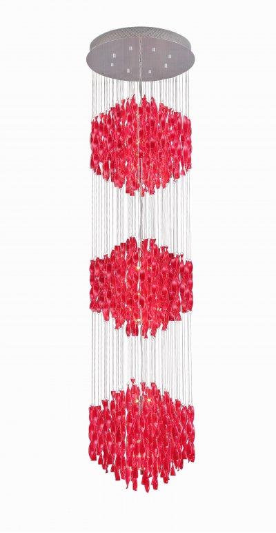 Светильник подвесной St luce SL450.603.54каскадные люстры в виде водопада<br>Касаемо коллекции модели St luce SL450.603.54 хотелось бы отметить основные моменты: Струящиеся стеклянные и металлические спирали люстр серии Arric сразу делают эти светильники ярким акцентом интерьера в стиле модерн или других современных стилях. Изделия представлены в трёх вариантах: белое и красное стекло, а также металлический хром. Арматура светильников выполнена из металла с покрытием хром.<br><br>Установка на натяжной потолок: Да<br>S освещ. до, м2: 72<br>Крепление: планка<br>Тип лампы: галогенная / LED-светодиодная<br>Тип цоколя: G4<br>Цвет арматуры: серебристый<br>Количество ламп: 54<br>Ширина, мм: 680<br>Диаметр, мм мм: 680<br>Длина, мм: 680<br>Высота, мм: 2500<br>Поверхность арматуры: глянцевая<br>MAX мощность ламп, Вт: 20