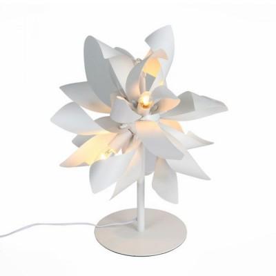 Настольная лампа SL453.504.04E St luce SPIRAGLIOНастольные лампы флористика (с цветами)<br><br><br>S освещ. до, м2: 8<br>Крепление: Планка<br>Тип лампы: Накаливания / энергосбережения / светодиодная<br>Тип цоколя: E14<br>Цвет арматуры: Белый<br>Количество ламп: 4<br>Диаметр, мм мм: 300<br>Высота, мм: 500<br>Поверхность арматуры: Матовая<br>Оттенок (цвет): белый<br>MAX мощность ламп, Вт: 40<br>Общая мощность, Вт: 160