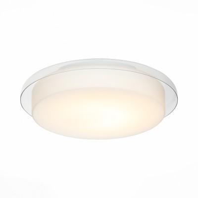 Светильник настенно-потолочный St luce SL466.512.01Круглые<br>Ванная комната - это помещение с повышенной температурой и влажностью, поэтому специалисты рекомендуют устанавливать там влагозащитные светильники и быть уверенными в том, что они прослужат долго и безопасно. Данная практика стала повсеместной у европейских пользователей. Светильники для ванных комнат коллекции  Pasticca имеют степень влагозащиты IP44. Плафон выполнен из белого матового стекла и окантовки из прозрачного стекла.<br><br>Цветовая t, К: 4000<br>Тип лампы: LED<br>Тип цоколя: LED<br>Цвет арматуры: белый<br>Количество ламп: 1<br>Диаметр, мм мм: 305<br>Высота, мм: 75<br>MAX мощность ламп, Вт: 60