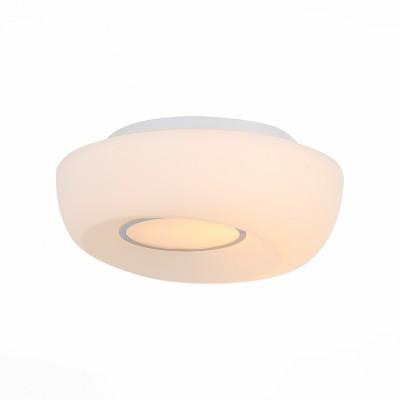 Светильник настенно-потолочный St luce SL467.502.01Круглые<br>Ванная комната - это помещение с повышенной температурой и влажностью, поэтому специалисты рекомендуют устанавливать там влагозащитные светильники и быть уверенными в том, что они прослужат долго и безопасно. Данная практика стала повсеместной у европейских пользователей. Светильники для ванных комнат коллекции  Pasticca имеют степень влагозащиты IP44. Плафон выполнен из белого матового стекла и окантовки из прозрачного стекла.<br><br>Тип лампы: Накаливания / энергосбережения / светодиодная<br>Тип цоколя: E27<br>Цвет арматуры: белый<br>Количество ламп: 1<br>Диаметр, мм мм: 260<br>Высота, мм: 75<br>MAX мощность ламп, Вт: 60