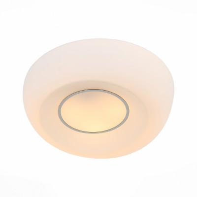 Светильник настенно-потолочный St luce SL467.502.03Круглые<br>Ванная комната - это помещение с повышенной температурой и влажностью, поэтому специалисты рекомендуют устанавливать там влагозащитные светильники и быть уверенными в том, что они прослужат долго и безопасно. Данная практика стала повсеместной у европейских пользователей. Светильники для ванных комнат коллекции  Pasticca имеют степень влагозащиты IP44. Плафон выполнен из белого матового стекла и окантовки из прозрачного стекла.<br><br>Тип лампы: Накаливания / энергосбережения / светодиодная<br>Тип цоколя: E27<br>Цвет арматуры: белый<br>Количество ламп: 3<br>Диаметр, мм мм: 450<br>Высота, мм: 95<br>MAX мощность ламп, Вт: 60