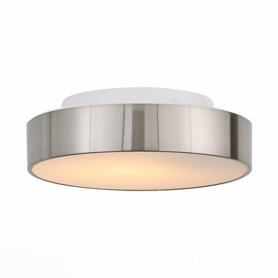 Светильник настенно-потолочный St luce SL468.502.01круглые светильники<br>Ванная комната - это помещение с повышенной температурой и влажностью, поэтому специалисты рекомендуют устанавливать там влагозащитные светильники и быть уверенными в том, что они прослужат долго и безопасно. Данная практика стала повсеместной у европейских пользователей. Светильники для ванных комнат коллекции  Pasticca имеют степень влагозащиты IP44. Плафон выполнен из белого матового стекла и окантовки из прозрачного стекла.<br><br>Тип лампы: Накаливания / энергосбережения / светодиодная<br>Тип цоколя: E27<br>Цвет арматуры: серебристый<br>Количество ламп: 1<br>Диаметр, мм мм: 260<br>Высота, мм: 75<br>MAX мощность ламп, Вт: 60