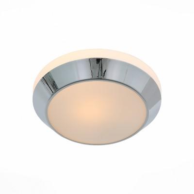 Светильник настенно-потолочный St luce SL469.502.01Круглые<br>Ванная комната - это помещение с повышенной температурой и влажностью, поэтому специалисты рекомендуют устанавливать там влагозащитные светильники и быть уверенными в том, что они прослужат долго и безопасно. Данная практика стала повсеместной у европейских пользователей. Светильники для ванных комнат коллекции  Pasticca имеют степень влагозащиты IP44. Плафон выполнен из белого матового стекла и окантовки из прозрачного стекла.<br><br>Тип лампы: Накаливания / энергосбережения / светодиодная<br>Тип цоколя: E27<br>Цвет арматуры: серебристый<br>Количество ламп: 1<br>Диаметр, мм мм: 260<br>Высота, мм: 75<br>MAX мощность ламп, Вт: 60