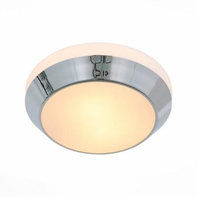 Светильник настенно-потолочный St luce SL469.502.02круглые светильники<br>Ванная комната - это помещение с повышенной температурой и влажностью, поэтому специалисты рекомендуют устанавливать там влагозащитные светильники и быть уверенными в том, что они прослужат долго и безопасно. Данная практика стала повсеместной у европейских пользователей. Светильники для ванных комнат коллекции  Pasticca имеют степень влагозащиты IP44. Плафон выполнен из белого матового стекла и окантовки из прозрачного стекла.<br><br>Тип лампы: Накаливания / энергосбережения / светодиодная<br>Тип цоколя: E27<br>Цвет арматуры: серебристый<br>Количество ламп: 2<br>Диаметр, мм мм: 320<br>Высота, мм: 90<br>MAX мощность ламп, Вт: 60