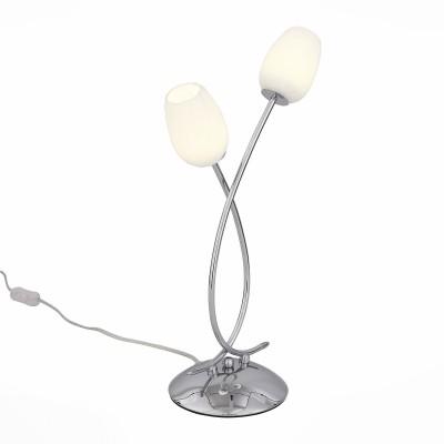 Светильник St luce SL478.104.02Флористика<br>Настольная лампа – это не просто источник дополнительного освещения, но и оригинальный элемент декора. Его можно установить в спальне, гостиной, кабинете и других комнатах. Интернет-магазин «Светодом» предлагает настольные лампы разных стилей по доступным ценам. Благодаря большому ассортименту Вы обязательно найдете в нашем каталоге именно ту модель, которую искали. <br> Настольная лампа St luce SL478.104.02 – прекрасный вариант для завершения интерьера. Ее можно включить одновременно с люстрой для более яркого освещения или без нее для создания уютной атмосферы, настраивающей на отдых. <br> Купить настольную лампу St luce SL478.104.02 Вы можете с помощью виртуальной «Корзины» или по контактным номерам, указанным на сайте.<br><br>Цветовая t, К: 4000<br>Тип лампы: LED<br>Количество ламп: 2<br>Ширина, мм: 245<br>MAX мощность ламп, Вт: 3<br>Длина, мм: 100<br>Высота, мм: 450