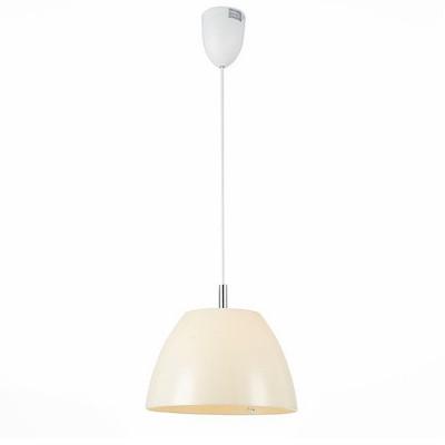 Светильник St Luce SL480.553.01Одиночные<br><br><br>Тип товара: Подвесной светильник<br>Тип лампы: Накаливания / энергосбережения / светодиодная<br>Тип цоколя: E27<br>Количество ламп: 1<br>MAX мощность ламп, Вт: 40<br>Диаметр, мм мм: 350<br>Высота, мм: 220 - 1800