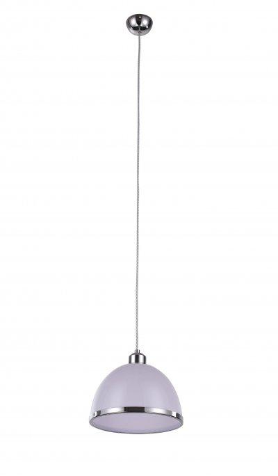 Светильник подвесной St luce SL481.503.01Одиночные<br>Если Вы настроены купить светильник модели SL48150301, то обратите внимание: Светильники коллекции Letizia безупречны в своем внешнем великолепии и техническом совершенстве. Дизайн предельно лаконичен. Основание и декоративный ободок на плафоне выполнены из металла, окрашенного в цвет хром, а плафон изготовлен из прозрачного стекла.Изюминка коллекции – сочетание простой классической формы и яркого дизайна.Цветовая гамма на любой вкус : прозрачное «стекло», жемчужный металлик, черный, красный, зеленый и фиолетовый. Модели коллекции Letizia гармонично подчеркивают уникальность и строгого классического интерьера, и современный дизайн.<br><br>Крепление: на планку<br>Тип лампы: накаливания / энергосбережения / LED-светодиодная<br>Тип цоколя: E27<br>Цвет арматуры: серебристый хром<br>Количество ламп: 1<br>Диаметр, мм мм: 230<br>Высота, мм: 1200<br>Поверхность арматуры: глянцевая<br>MAX мощность ламп, Вт: 60