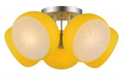 Люстра потолочная St luce SL482.902.05 ArancioПотолочные<br>Если Вы настроены купить светильник модели SL48290205, то обратите внимание: Светильники коллекции Arancio- это яркий сочный акцент в интерьере современных квартир. Насыщенные цвета стеклянных плафонов в сочетании с блеском хромированного металлического основания заряжают пространство энергией и оптимизмом. Модели Arancio - это прекрасное решение для освещения гостиной, спальни или детской комнаты.<br><br>Установка на натяжной потолок: Да<br>S освещ. до, м2: 10<br>Крепление: Планка<br>Тип лампы: накаливания / энергосбережения / LED-светодиодная<br>Тип цоколя: E27<br>Количество ламп: 5<br>MAX мощность ламп, Вт: 40<br>Диаметр, мм мм: 560<br>Высота, мм: 290<br>Поверхность арматуры: матовая<br>Цвет арматуры: серебристый