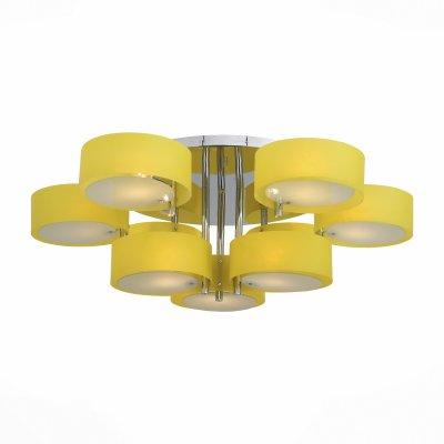 Светильник St Luce SL483.092.09Потолочные<br>Если Вы настроены купить светильник модели SL48309209, то обратите внимание: Смелый и нестандартный дизайн светильников коллекции Foresta позволяет им гармонично вписаться в современные интерьеры в стиле модерн, хай-тек, минимализм. Холодный блеск хромированного металла в люстрах этой коллекции успешно сочетается с белым матовым стеклом и цветными акриловыми деталями абажуров. Использование акрила в изготовлении светильников это современная тенденция в оформлении интерьера. Акрил и матовое стекло хорошо пропускают свет, и он мягко распространяется в пространстве.<br><br>Установка на натяжной потолок: Да<br>S освещ. до, м2: 27<br>Тип лампы: Накаливания / энергосбережения / светодиодная<br>Тип цоколя: E27<br>Количество ламп: 9<br>MAX мощность ламп, Вт: 60<br>Диаметр, мм мм: 1000<br>Высота, мм: 300