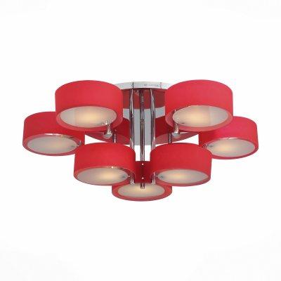 Светильник St Luce SL483.602.09Потолочные<br>Если Вы настроены купить светильник модели SL48360209, то обратите внимание: Смелый и нестандартный дизайн светильников коллекции Foresta позволяет им гармонично вписаться в современные интерьеры в стиле модерн, хай-тек, минимализм. Холодный блеск хромированного металла в люстрах этой коллекции успешно сочетается с белым матовым стеклом и цветными акриловыми деталями абажуров. Использование акрила в изготовлении светильников это современная тенденция в оформлении интерьера. Акрил и матовое стекло хорошо пропускают свет, и он мягко распространяется в пространстве.<br><br>Установка на натяжной потолок: Да<br>S освещ. до, м2: 27<br>Тип лампы: Накаливания / энергосбережения / светодиодная<br>Тип цоколя: E27<br>Количество ламп: 9<br>Диаметр, мм мм: 1000<br>Высота, мм: 300<br>MAX мощность ламп, Вт: 60