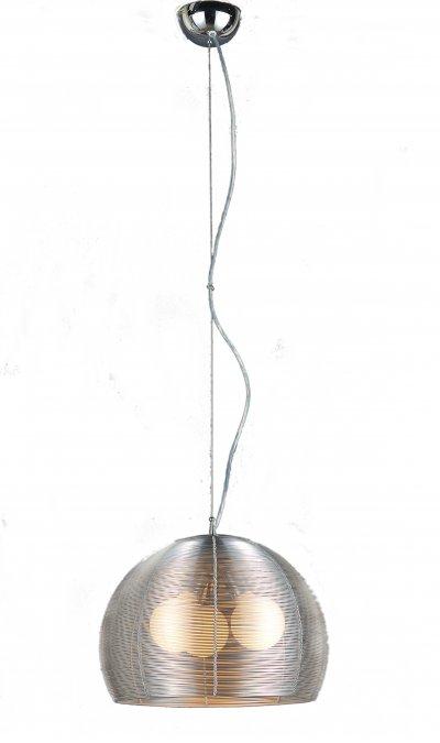Светильник подвесной St luce SL512.003.03одиночные подвесные светильники<br>Касаемо коллекции модели St luce SL512.003.03 хотелось бы отметить основные моменты: Mandrino - яркая и запоминающаяся коллекция современных функциональных светильников, в которых главным акцентом являются абажуры, выполненные из металла в цветах алюминий или кофейный. За счет конструкции абажуров свет получается мягким и рассеянным. Торшер серии Mandrino станет главенствующим декоративным элементом интерьера. За счет надежного выдвижного и шарнирного механизма можно изменять высоту, длину изгиба и поворот плафона торшера. Торшер уравновешен мраморной плитой в основании. Все светильники коллекции Maлdrino комплектуются матовыми лампами.<br><br>S освещ. до, м2: 9<br>Крепление: планка<br>Тип лампы: накаливания / энергосбережения / LED-светодиодная<br>Тип цоколя: E27<br>Цвет арматуры: серый<br>Количество ламп: 3<br>Ширина, мм: 400<br>Диаметр, мм мм: 400<br>Длина, мм: 400<br>Высота, мм: 280<br>Поверхность арматуры: матовая<br>Оттенок (цвет): серебристый<br>MAX мощность ламп, Вт: 60