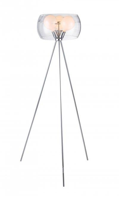 торшер St luce SL512.105.03Хай-тек<br>Касаемо коллекции модели St luce SL512.105.03 хотелось бы отметить основные моменты: Светильники коллекции Uovo - это смелое решение в оформлении помещения. Необычный дизайн люстры и торшера отлично дополняют интерьер в стиле хай-тек или минимализм. Металлическая арматура светильников хромирована. Абажур из прозрачного стекла. Светильник укомплектован матовыми лампочками.<br><br>S освещ. до, м2: 20<br>Тип лампы: накаливания / энергосбережения / LED-светодиодная<br>Тип цоколя: E27 Globe<br>Цвет арматуры: серебристый<br>Количество ламп: 3<br>Ширина, мм: 400<br>Диаметр, мм мм: 400<br>Длина, мм: 400<br>Высота, мм: 1500<br>Поверхность арматуры: глянцевая<br>Оттенок (цвет): прозрачное стекло<br>MAX мощность ламп, Вт: 100