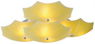 Светильник потолочный St luce SL524.992.09Архив<br>Если Вы настроены купить светильник модели SL52499209, то обратите внимание: Дизайн коллекции светильников Iride навевает только самые приятные ассоциации. Кто-то увидит семейство экзотических лотосов, а кто-то – разноцветные шляпки зонтиков. Это яркие и заметные люстры, которые прекрасно дополнят стильный и смелый интерьер, заявляя окружающим об оригинальном вкусе владельца. Небесно-голубой, теплый оранжевый, персиковая пастель, золотисто-желтый и смесь из всех четырех вариаций- это цвета стеклянных плафонов,которые крепятся на матовом серебристом металлическом основании. Свет, проникая через плафоны люструы, едва заметно окрашивается холодным или теплым оттенком, позволяя подобрать необходимую атмосферу: тонус и продуктивность или томность и уют.<br><br>Установка на натяжной потолок: Ограничено<br>S освещ. до, м2: 24<br>Крепление: Планка<br>Тип лампы: накаливания / энергосбережения / LED-светодиодная<br>Тип цоколя: E27<br>Цвет арматуры: желтый<br>Количество ламп: 9<br>Ширина, мм: 700<br>Длина, мм: 700<br>Высота, мм: 200<br>Поверхность арматуры: матовая<br>Оттенок (цвет): желтый<br>MAX мощность ламп, Вт: 40