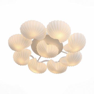 Светильник St Luce SL534.502.09Потолочные<br>Если Вы настроены купить светильник модели SL53450209, то обратите внимание: Необычный дизайн люстр серии Conglia сделает ваш интерьер неповторимым. Металлическая основа светильников окрашена в белый цвет. Плафоны из белого матового стекла. Бра серии Conglia может быть также и потолочным светильником<br><br>Установка на натяжной потолок: Да<br>S освещ. до, м2: 27<br>Тип лампы: Накаливания / энергосбережения / светодиодная<br>Тип цоколя: E27<br>Количество ламп: 9<br>MAX мощность ламп, Вт: 60<br>Диаметр, мм мм: 1050<br>Высота, мм: 200