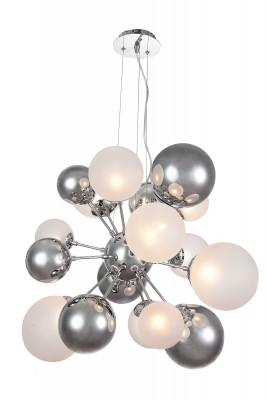 Светильник St Luce SL535.153.10Подвесные<br>Если Вы настроены купить светильник модели SL53515310, то обратите внимание: Авангардное произведение искусства у вас дома – это подвесная люстра из оригинальной коллекции Molecola. Контрастное сочетание цветов и текстур подчеркнут творческую атмосферу и вдохновят на новые идеи. В сложном интерьере люстра дополнит дизайн, в простом – станет оригинальной заметной деталью. Светлые «жемчужины» пастельного оттенка перекликаются с темно-графитовыми, отражающими любой свет . Так возникает эффект безупречно гладких сверкающих драгоценных камней. Оригинальная конструкция держится на изящном подвесе из тонких металлических нитей.<br><br>Установка на натяжной потолок: Да<br>S освещ. до, м2: 13<br>Тип лампы: галогенная/LED<br>Тип цоколя: G9<br>Количество ламп: 10<br>MAX мощность ламп, Вт: 25<br>Диаметр, мм мм: 638<br>Высота, мм: 527 - 1200