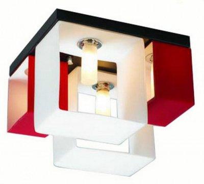 Люстра потолочная St luce SL536.562.04Потолочные<br>Касаемо коллекции модели St luce SL536.562.04 хотелось бы отметить основные моменты: Оригинальные светильники коллекции Concreto украсят современный интерьер в стиле хай-тек, минимализм, лофт, постмодерн. Это отличный вариант для освещения комнаты, кабинета или офисного помещения. Благодаря модным контрастным сочетаниям цветов, светильники станут яркой деталью интерьера. Основание выполнено из металла, плафоны стеклянные.<br><br>Установка на натяжной потолок: Ограничено<br>S освещ. до, м2: 10<br>Крепление: Планка<br>Тип лампы: галогенная / LED-светодиодная<br>Тип цоколя: G9<br>Количество ламп: 4<br>Ширина, мм: 235<br>MAX мощность ламп, Вт: 40<br>Длина, мм: 235<br>Высота, мм: 175<br>Поверхность арматуры: матовая<br>Оттенок (цвет): красный<br>Цвет арматуры: белый