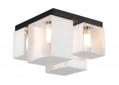 Люстра потолочная St luce SL536.502.04 ConcretoПотолочные<br>Касаемо коллекции модели St luce SL536.502.04 хотелось бы отметить основные моменты: Оригинальные светильники коллекции Concreto украсят современный интерьер в стиле хай-тек, минимализм, лофт, постмодерн. Это отличный вариант для освещения комнаты, кабинета или офисного помещения. Благодаря модным контрастным сочетаниям цветов, светильники станут яркой деталью интерьера. Основание выполнено из металла, плафоны стеклянные.<br><br>Установка на натяжной потолок: Ограничено<br>S освещ. до, м2: 8<br>Крепление: Планка<br>Тип лампы: галогенная / LED-светодиодная<br>Тип цоколя: G9<br>Количество ламп: 4<br>Ширина, мм: 235<br>MAX мощность ламп, Вт: 40<br>Длина, мм: 235<br>Высота, мм: 175<br>Поверхность арматуры: матовая<br>Цвет арматуры: черный