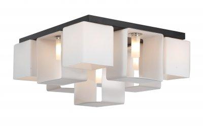 Люстра потолочная St luce SL536.502.09 ConcretoПотолочные<br>Касаемо коллекции модели St luce SL536.502.09 хотелось бы отметить основные моменты: Оригинальные светильники коллекции Concreto украсят современный интерьер в стиле хай-тек, минимализм, лофт, постмодерн. Это отличный вариант для освещения комнаты, кабинета или офисного помещения. Благодаря модным контрастным сочетаниям цветов, светильники станут яркой деталью интерьера. Основание выполнено из металла, плафоны стеклянные.<br><br>Установка на натяжной потолок: Да<br>S освещ. до, м2: 18<br>Крепление: Планка<br>Тип лампы: галогенная / LED-светодиодная<br>Тип цоколя: G9<br>Количество ламп: 9<br>Ширина, мм: 420<br>MAX мощность ламп, Вт: 40<br>Длина, мм: 420<br>Высота, мм: 230<br>Поверхность арматуры: матовая<br>Цвет арматуры: черный